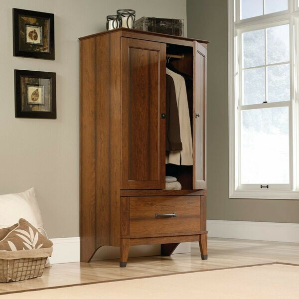 Storage Clothes Cabinet Bedroom Wardrobe Armoire Furniture Wood Closet Organizer