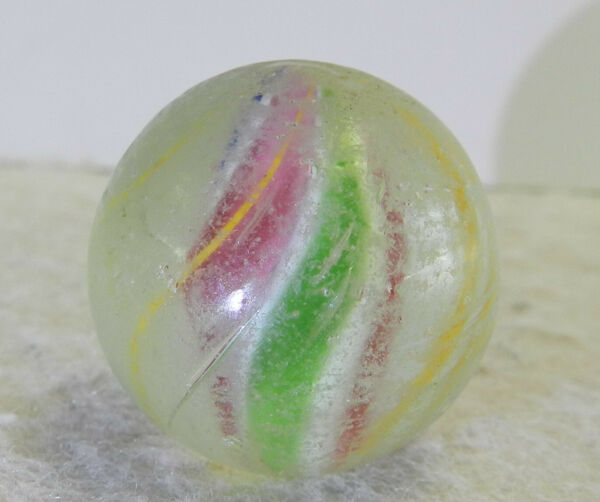 #12761m Vintage German Handmade Solid Core Shooter Marble .88 Inches $14.99