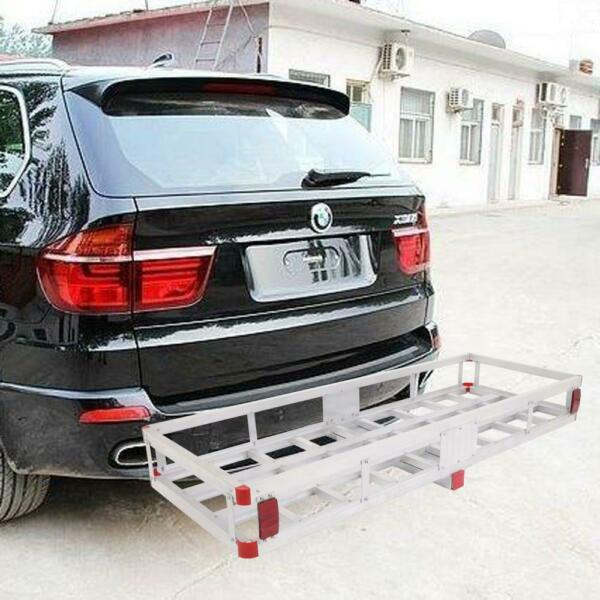 Aluminum Hitch Mounted Cargo Carrier Luggage Basket Trailer Receiver Rack Truck $150.99