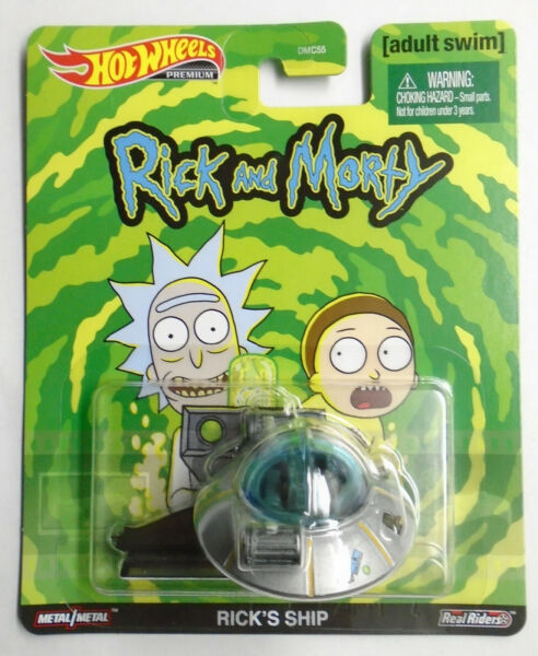Hot Wheels Retro Entertainment Rick#x27;s Ship Rick and Morty New in Pack In Stock $16.99