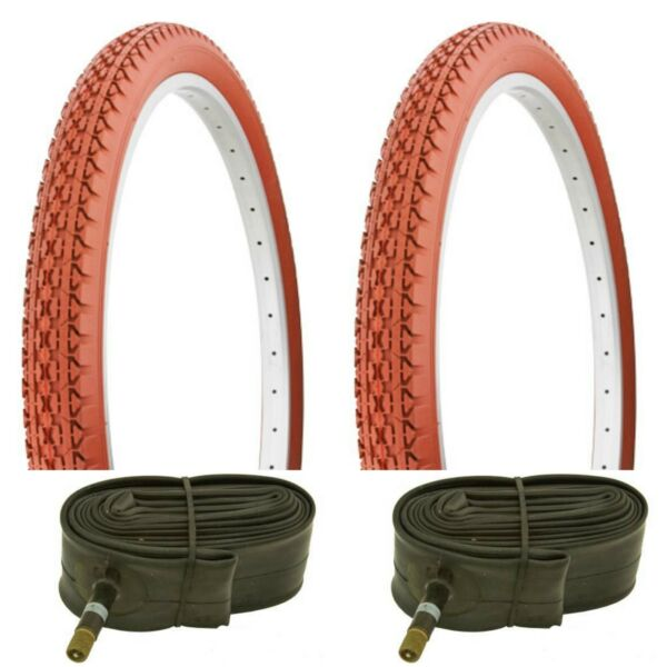 2 CLAY BICYCLE TIRES 26quot; X 2.125 GOODYEAR STYLE fits Schwinn 2 Free Tubes $65.00