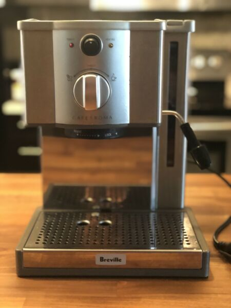 Breville The Café Roma Espresso Machine Brushed Stainless Steel