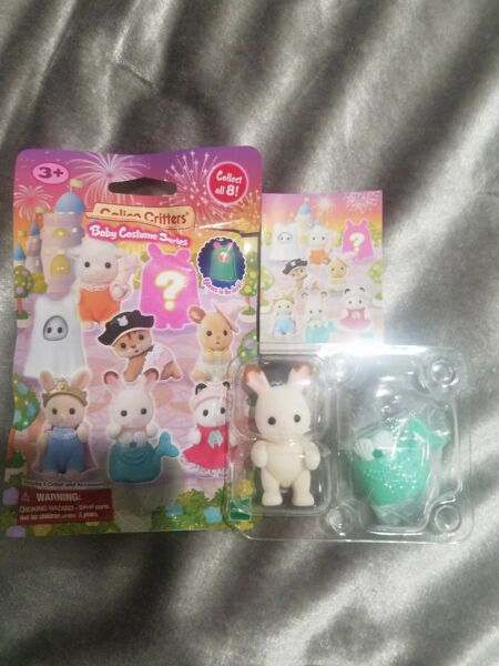 Calico Critters Baby Costume Series blind bag Rabbit opened #1 mermaid outfit