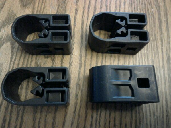 4 YAKIMA WRAP AROUND MIGHTY MOUNTS FOR ROUND BARS OR THULE SQUARE BARS $12.00