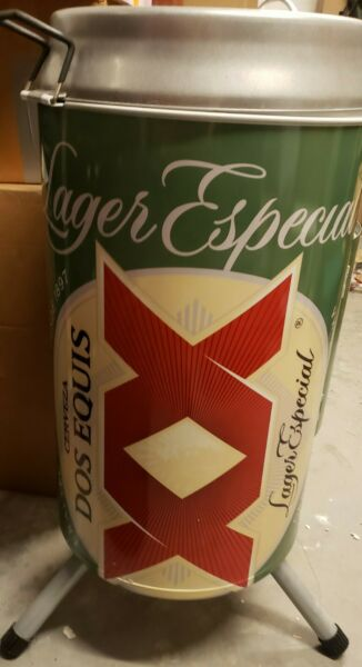 Rare Dos Equis XX Charcoal Smoker BBQ Grill Beer Can Look New