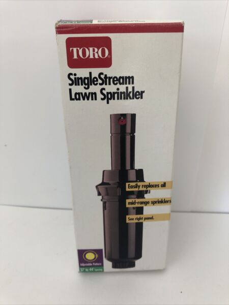 NEW Toro Single Stream Lawn Sprinkler 53264 Adjustable to 360