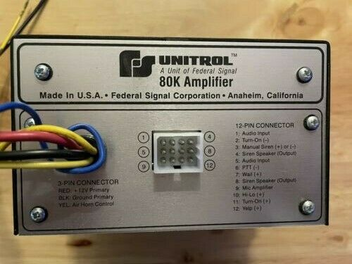 Federal Signal Unitrol 80k Siren Amp New with bracket