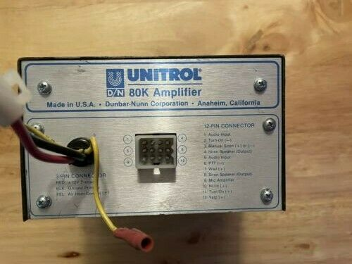 Federal Signal Unitrol 80k Siren Amplifier
