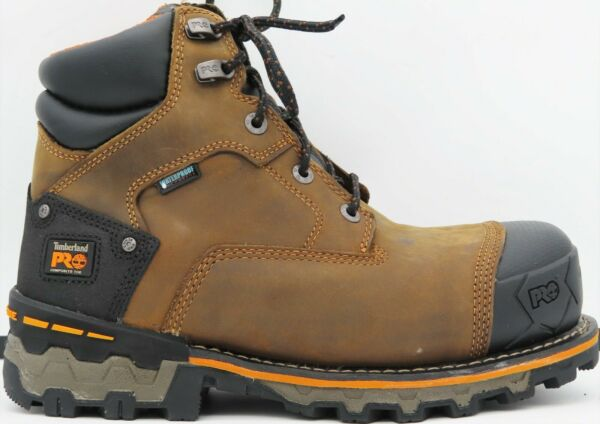 Timberland PRO Men#x27;s Boondock Safety Toe Waterproof Boot 8MM 10WL 92615 214 $128.97