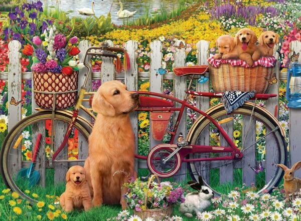 Ravensburger Cute Dogs in the Garden Jigsaw Puzzle 500 Pieces GBP 14.17