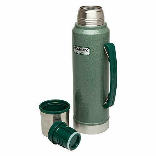 Classic Vacuum Thermos Bottle Coffee Green Hammertone 1.1 Qt Stainless