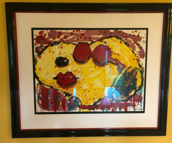 TOM EVERHART VERY COOL DOG LIPS Hand Signed Limited Edition Lithograph SNOOPY $795.00