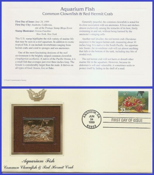 USA7 #3320 U A GOLDEN REPLICA FDC Fish Heater $4.21