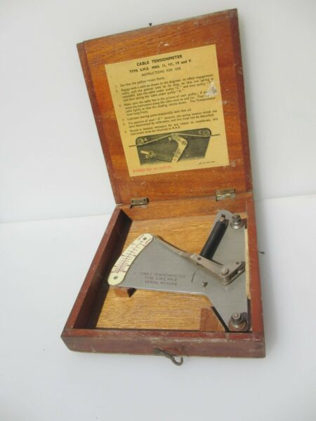 Victoria Wooden Box Antique Old Crate Wood Vintage Tension meter 8quot;W