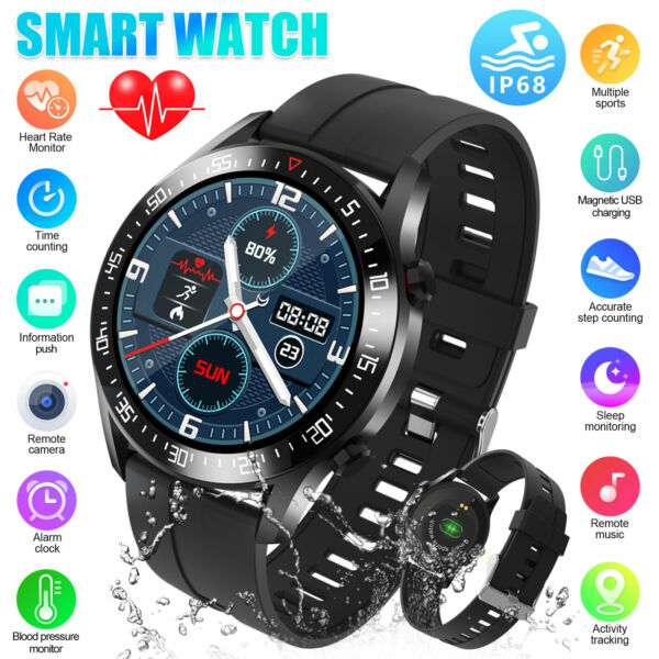 Waterproof Smart Watch Heart Rate Blood Oxygen Monitor for iOS Android iPhone $36.98