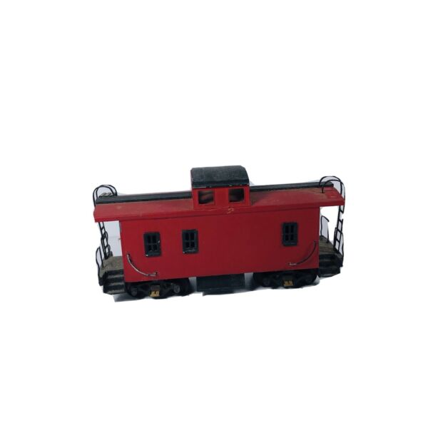 HO Wood Kit Build Red Caboose Missing Couplers And Cover Plates $24.95
