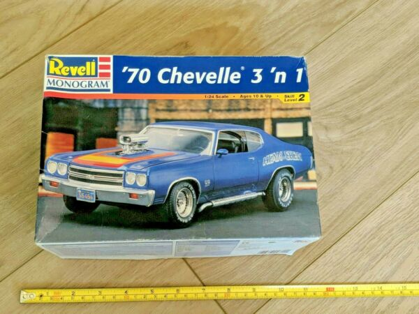 1970 Chevelle Revell Street Burner 3 in 1 Kit From 2011 Open Box