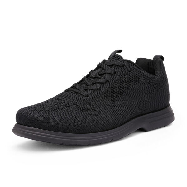 Mens Fashion Sneakers Knit Casual Shoes Comfort Lace up Walking Shoe Size 6.5 13