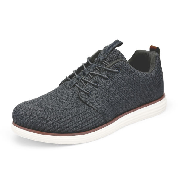 Mens Knit Casual Shoes Comfort Lace up Walking Shoes Fashion Sneakers