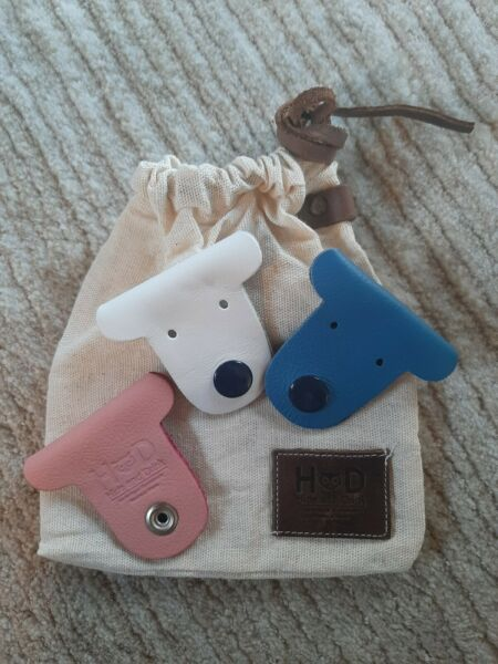 Dog Shaped Cord Keeper Cord Clam 3 Pack Handmade by Hide amp; Drink :: Leather $4.99