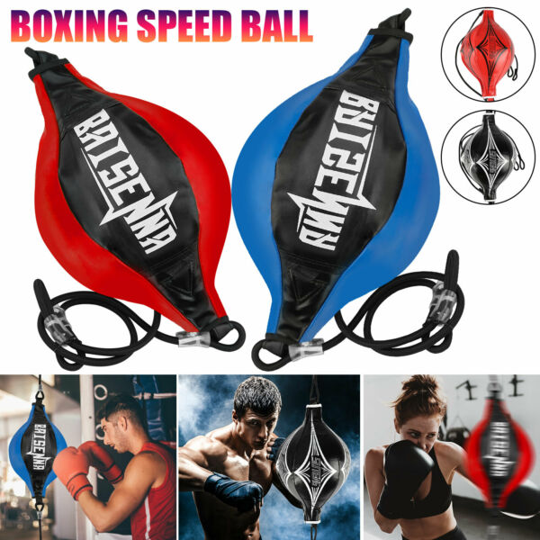 Double End Speed Ball Boxing MMA Focus Punching Dodge Bag Floor to Ceiling Rope $13.98