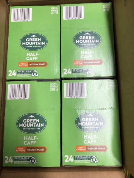 96 Ct Keurig Green Mountain Half Caff K Cup Coffee Pods BB 1 27 23 Free US Ship