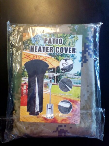 Patio Heater Cover Waterproof with Zipper CAMO Standup Outdoor Round Heater NEW