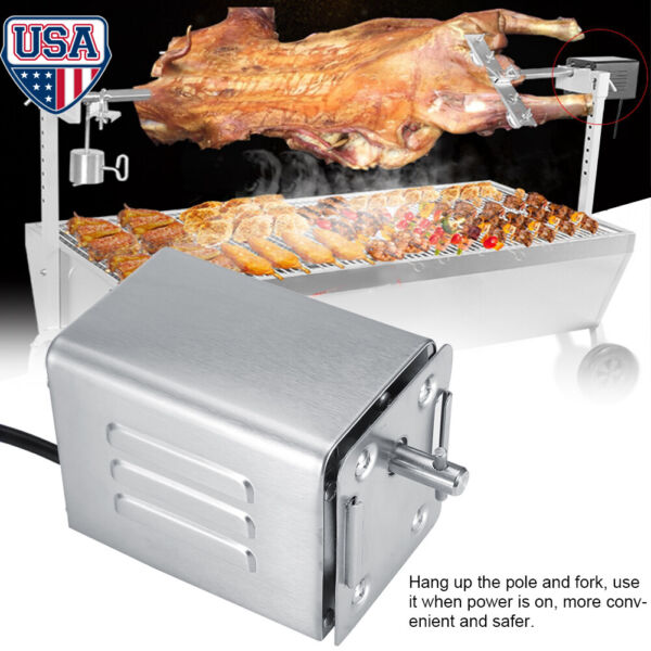 110V BBQ Rotisserie Motor 50 70KGF Stainless Steel Electric Barbecue Roaster