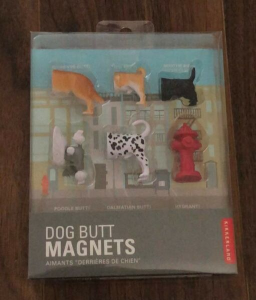 NEW Kikkerland Dog Butt Magnets Set of 6Sealed In box Rescue Puppy Fire Hydrant $5.95