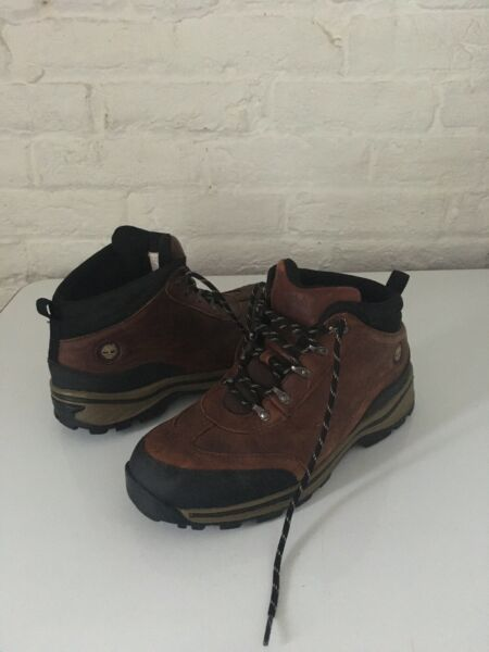 Timberland Boys Youth Size 6.5 Brown Leather Hiking Trail Ankle Boots #22913 $34.00