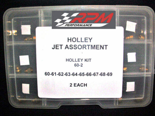 Holley Carburetor JET ASSORTMENT KIT 60 to 69 2 EACH 1 4 32 GAS MAIN 20PACK 60 2 $29.75