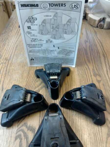 Yakima Q Towers for Roof Rack System set of 4 with installation instructions $65.00