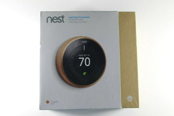 Nest 3rd Generation T3021US Learning Copper Programmable Thermostat $189.99