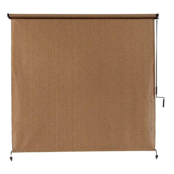 Cordless Exterior Roller Shade 120 in. W x 96 in. L Block Heat Glare Privacy $109.85