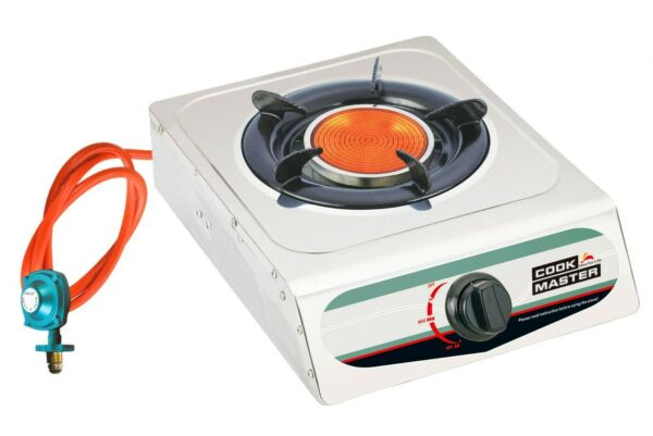 Cookmaster Infrared Portable Propane Gas Stove Burner Camping W LPG Regulator