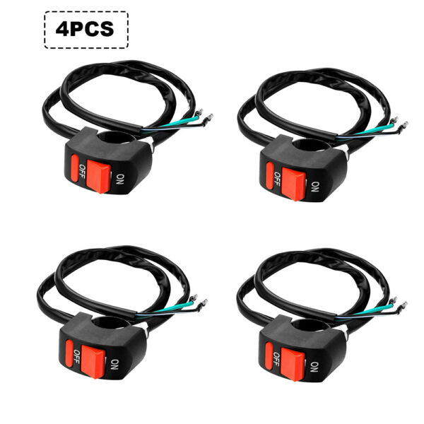 4pcs x 7 8quot; Motorcycle Handlebar Scooter Bike ON OFF Switch for Light control $9.99