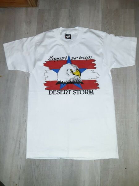 Vintage screen stars Single Stitch 1991 Desert Storm support our troops tshirt