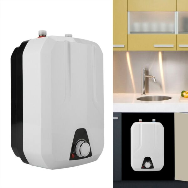 Electric Water Heater 8L Mini Instant Electric Water Heater Tankless Shower Hot $77.41