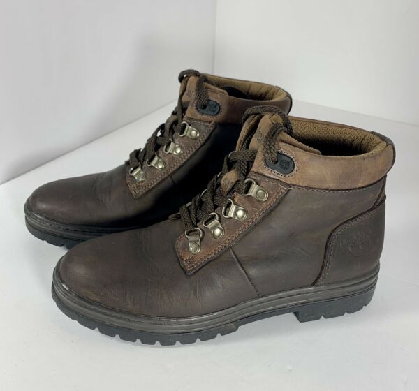 TIMBERLAND Women#x27;s Size 7.5 M Brown Leather Ankle Lace Up Hiking Boots 12343 $39.00