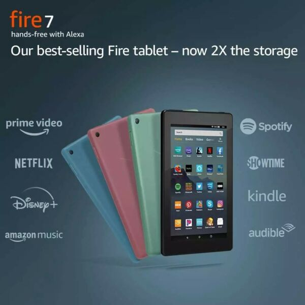 Brand New Amazon fire 7 16GB 9 Gen SEALED Black Blue Plum Sage