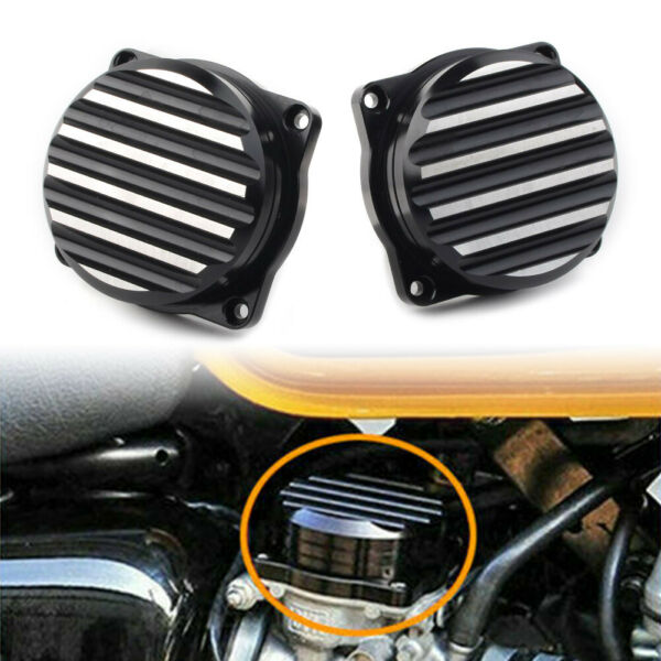 Motorcycle Injection Carburetor Cover Lid CNC Carb Tops for Triumph Black Cut $24.98