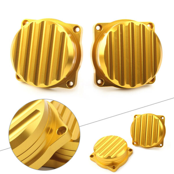 2x Motorcycle Carburetor Cover CNC Carb Tops Ripple Fit for Triumph 08 15 Golden $24.98