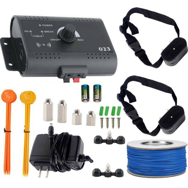 Wireless Electric Dog Fence Pet Containment System Shock Collars For 2 Dogs $45.99