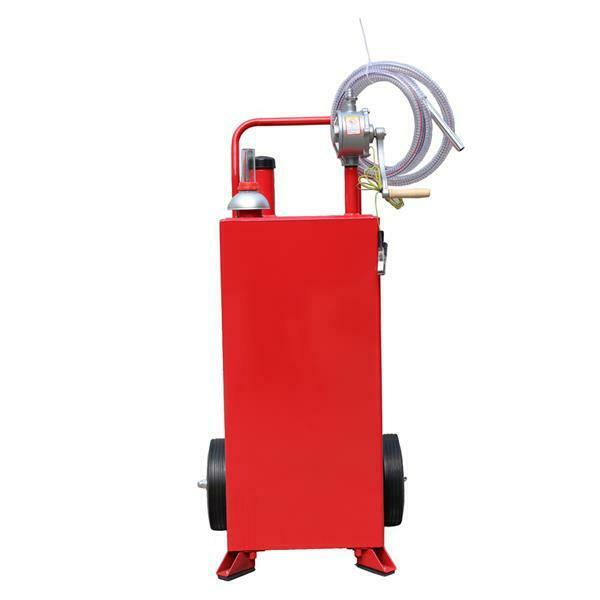 30 Gallon Portable Fuel Transfer Gas Can Caddy Storage Gasoline Tank Red $55.99