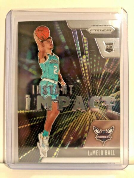 2020 21 Panini Prizm LaMelo Ball Instant Impact Insert Rookie Card Hornets $15.00