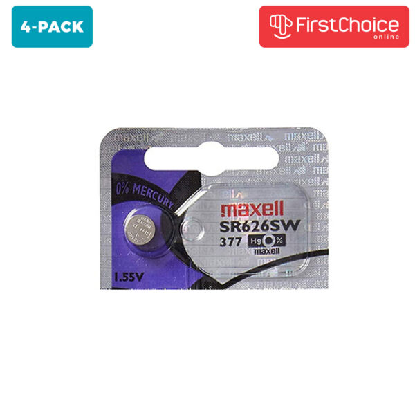 4 Unit Maxell Watch Batteries SR626SW Silver Oxide 1.55V Equivalent 377 BL10 $3.04