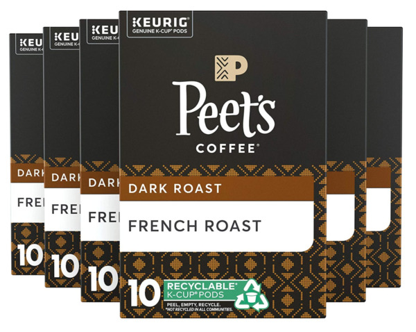 Peet's Coffee French Roast K Cup Coffee Pods for Keurig Brewers 60 Pods