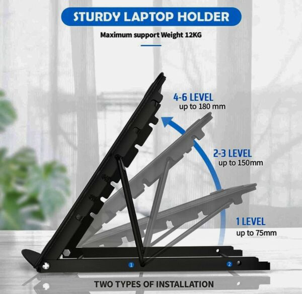 Adjustable Laptop Stand For Desk amp; Table Portable Folding Aluminum Stand $13.85