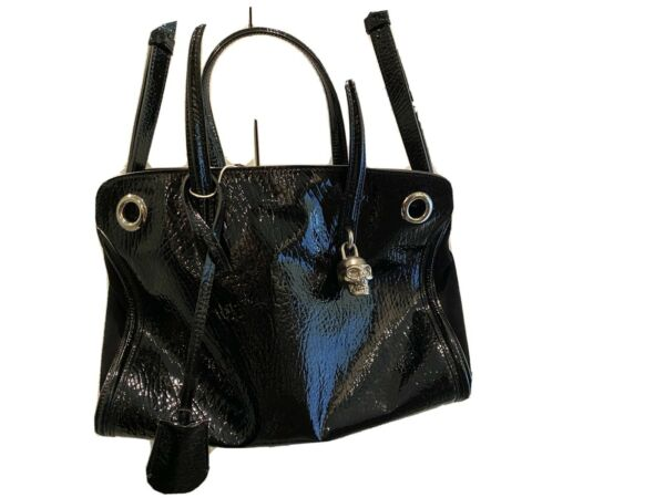 Alexander McQueen patent leather skull tote For Rock Stars $375.00