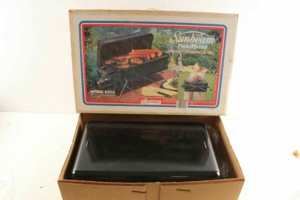 Vintage Sunbeam Portable Gas Barbeque Grill In Box NOS Model 8203